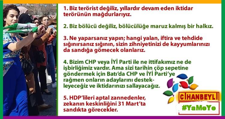 Photo of Demirtaş'tan net mesajlar